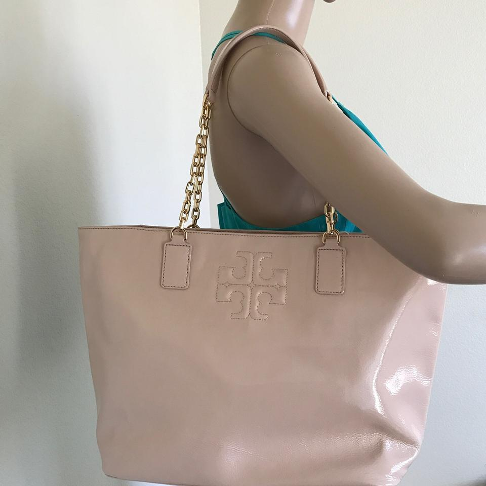 021c72c5f1c Tory Burch Charlie Pink Patent Leather Tote - Tradesy