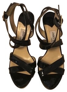 Jimmy Choo black patent Platforms