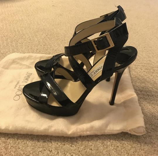 Jimmy Choo black patent Platforms Image 2