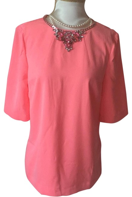 Preload https://img-static.tradesy.com/item/22760834/ted-baker-coral-night-out-top-size-4-s-0-1-650-650.jpg