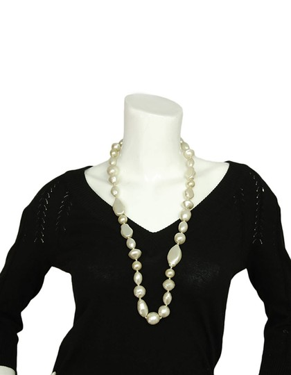 Chanel Chanel Vintage 1983 Long Pearl Strand Necklace Image 4
