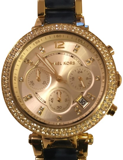 Michael Kors NWT Michael Kors Chrono Parker Gold-Tone /Navy Watch MK6238 Image 0