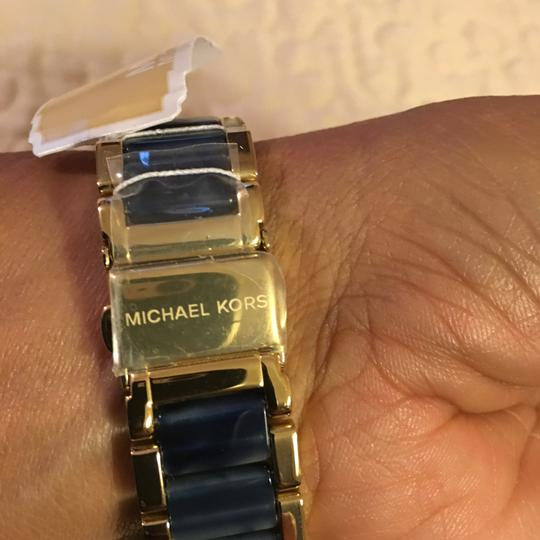 Michael Kors NWT Michael Kors Chrono Parker Gold-Tone /Navy Watch MK6238 Image 1