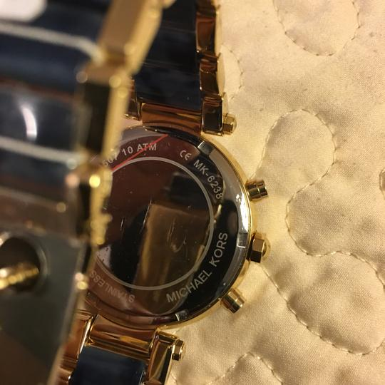 Michael Kors NWT Michael Kors Chrono Parker Gold-Tone /Navy Watch MK6238 Image 2