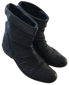 Gianluca Tombolini Leather Traffic Italian Hipster Black Boots