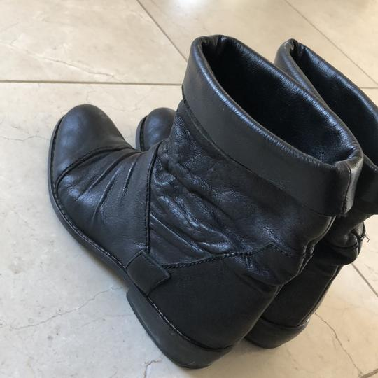 Gianluca Tombolini Leather Traffic Italian Hipster Black Boots Image 9