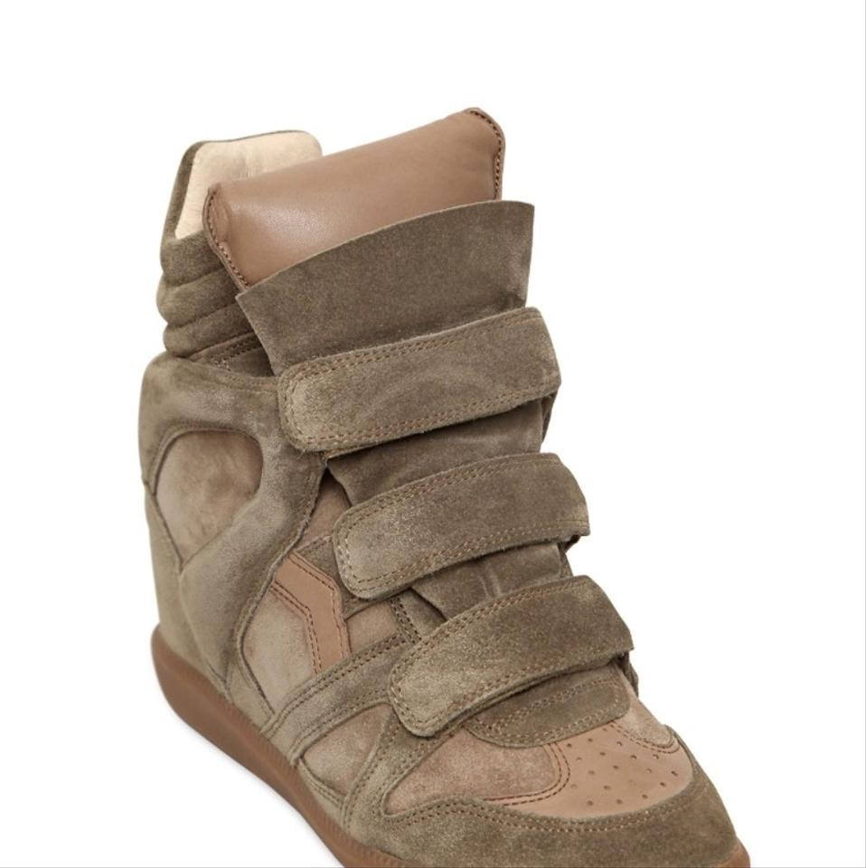 c83d9c4ae5f Isabel Marant Taupe Suede Wedge Sneakers Boots Booties. Size  EU 37 ...