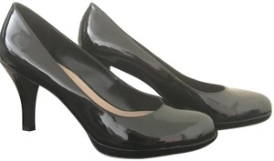 Franco Sarto Patent Leather Platform Career Professional Sleek Black Pumps