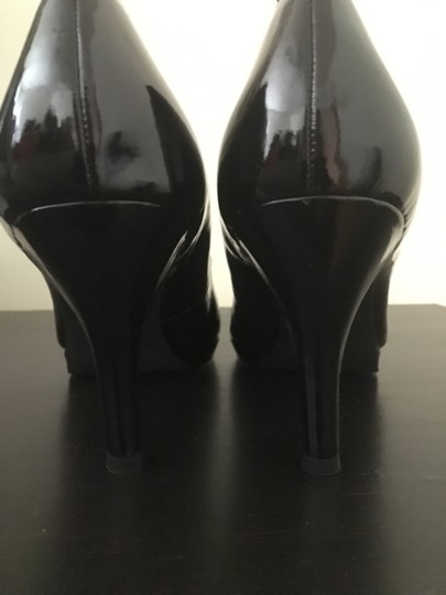 Franco Sarto Patent Leather Platform Career Professional Sleek Black Pumps Image 3
