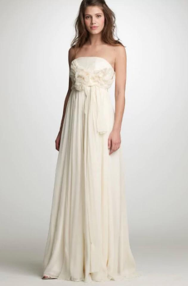 J.Crew Ivory Chiffon Augusta Gown Item 26623 Formal Wedding Dress ...