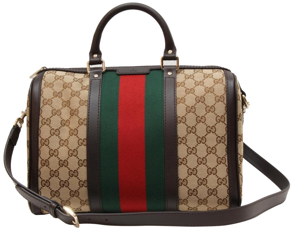 9699927b5 Gucci Boston 247205 Vintage Web Gg Multicolor Canvas Shoulder Bag ...