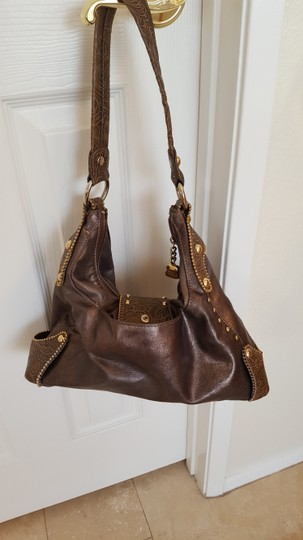 Kathy Van Zeeland Gold Studded Finish Rhinestones Hobo Bag Image 2