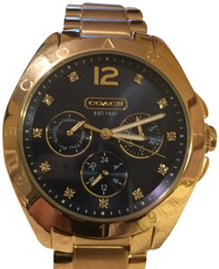 Coach Coach Gold Plated Tristen Women Watch 14501887