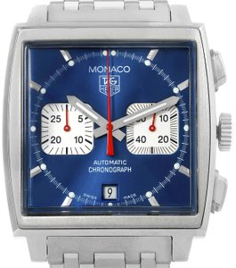 TAG Heuer Tag Heuer Monaco Blue Dial Automatic Chronograph Mens Watch CW2113