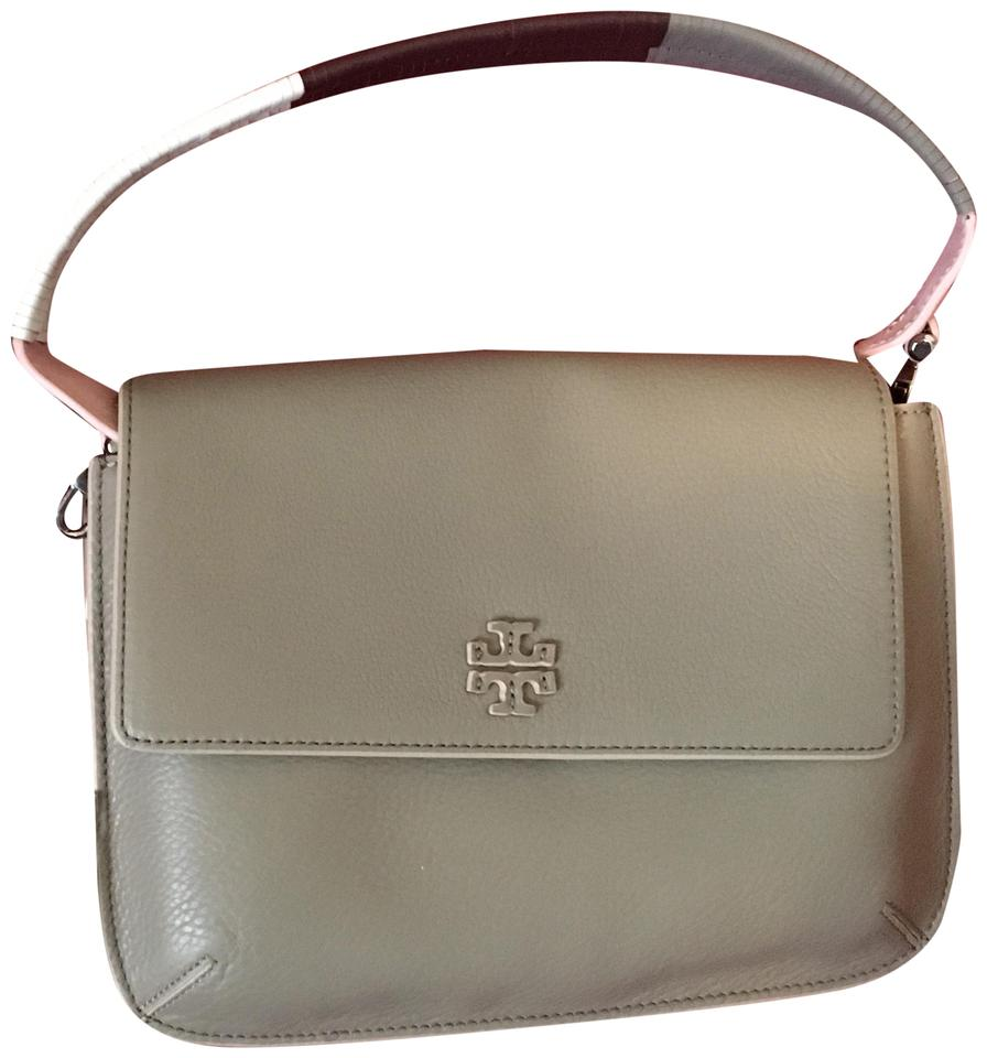 7a1d383a67e Tory Burch French Grey Leather Messenger Bag - Tradesy
