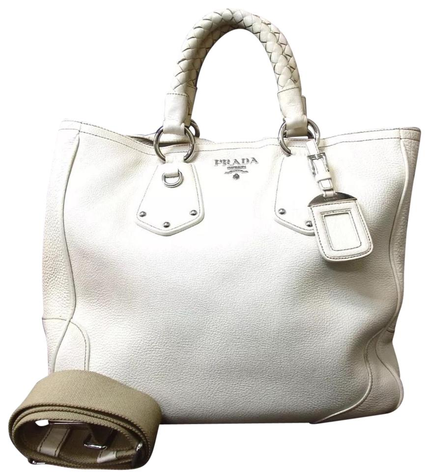 cc35d859ebcf Prada Large Vanilla Off White Leather Tote - Tradesy