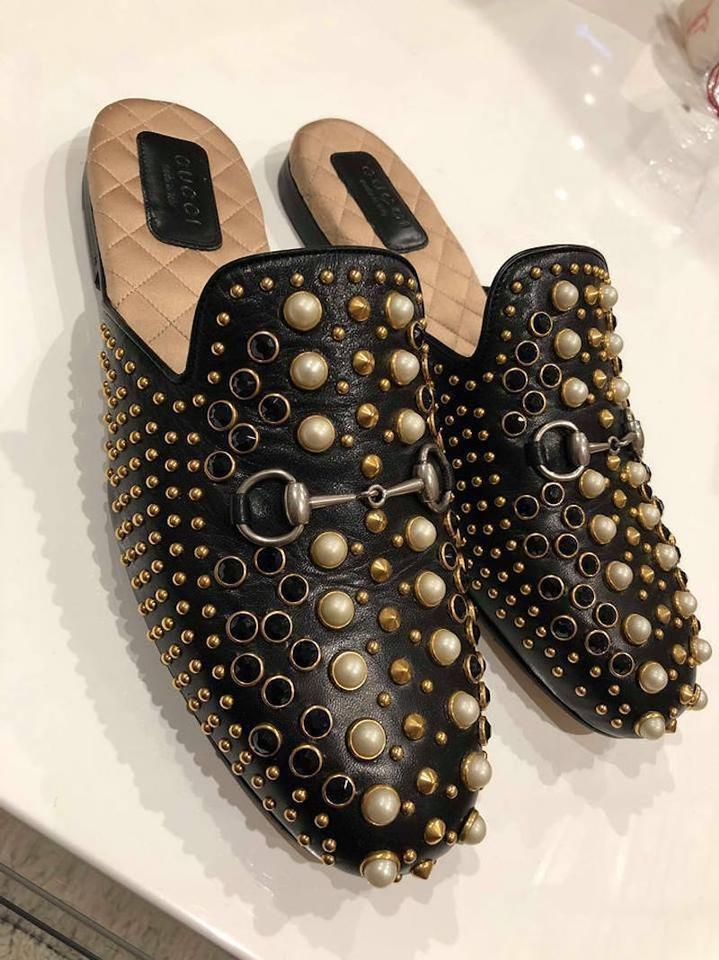 cb7ce367c Gucci Princetown Loafer Pearl Studded black Flats Image 11. 123456789101112