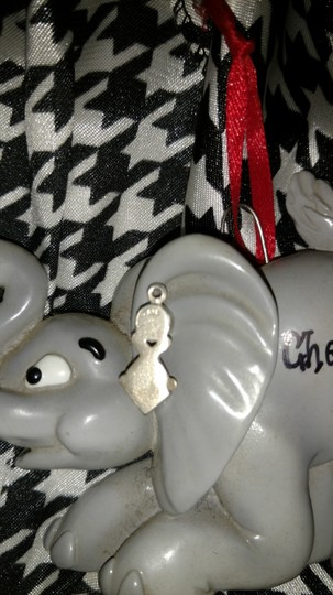 Sterling Silver Sterling Silver Charm 2 Stones EUC Image 2