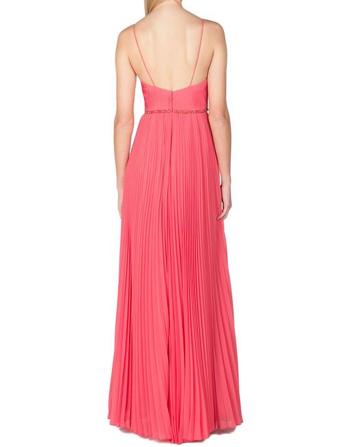 Badgley Mischka Pleated Lace Gown Evening Dress Image 5