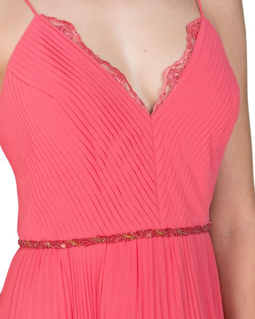 Badgley Mischka Pleated Lace Gown Evening Dress Image 6