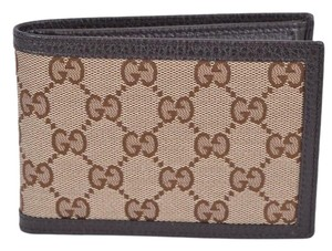 Gucci canvas leather men's wallet