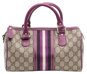 Gucci Joy Monogram Mini Satchel in Purple