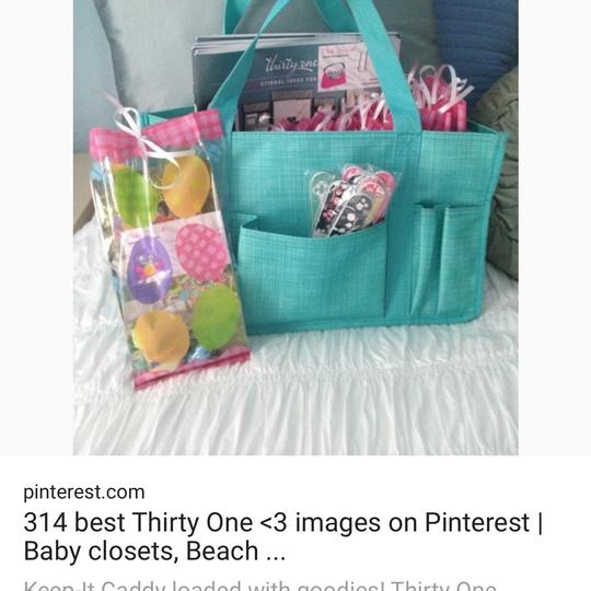 Thirty One Tote in turquoise cross pop Image 4