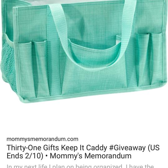 Thirty One Tote in turquoise cross pop Image 7