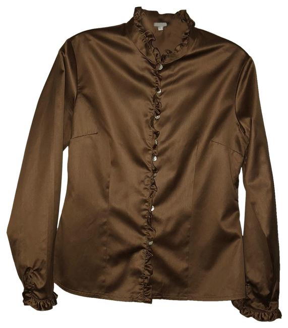 Preload https://img-static.tradesy.com/item/22761783/brown-collection-blouse-size-8-m-0-1-650-650.jpg