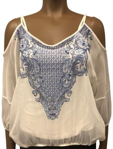 INC International Concepts Top washed white