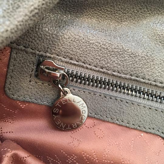Stella McCartney Suede Silver Hardware Classic Tote in Grey Image 10