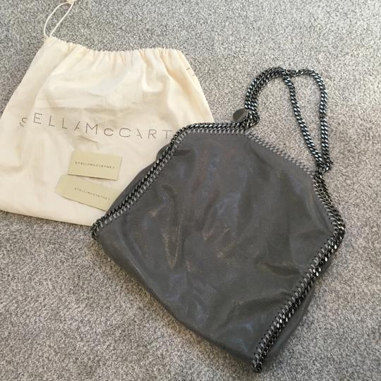 Stella McCartney Suede Silver Hardware Classic Tote in Grey Image 11