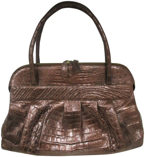 Preload https://img-static.tradesy.com/item/22762038/nancy-gonzalez-ruched-double-copper-crocodile-satchel-0-1-540-540.jpg