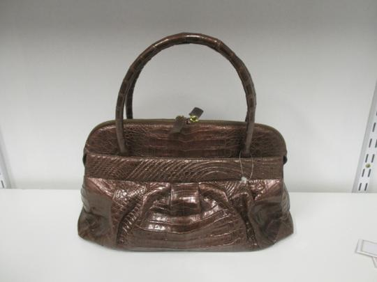 Nancy Gonzalez Crocodile Bronze New Satchel in Copper Image 1