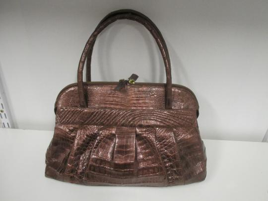 Nancy Gonzalez Crocodile Bronze New Satchel in Copper Image 2