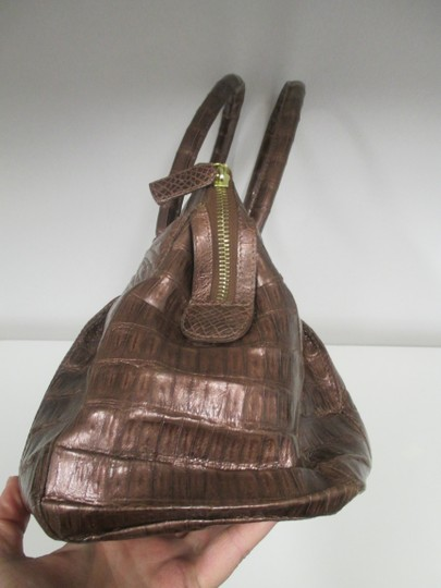 Nancy Gonzalez Crocodile Bronze New Satchel in Copper Image 4