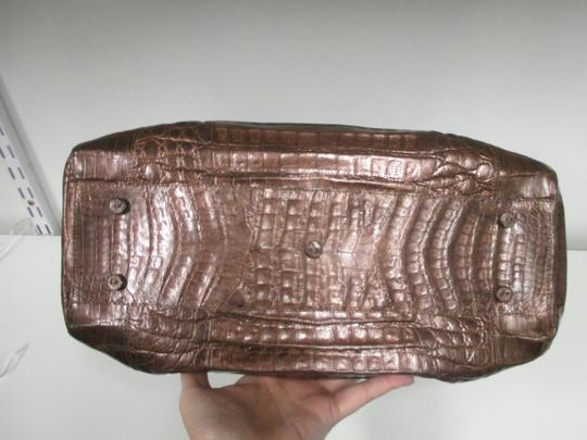 Nancy Gonzalez Crocodile Bronze New Satchel in Copper Image 5