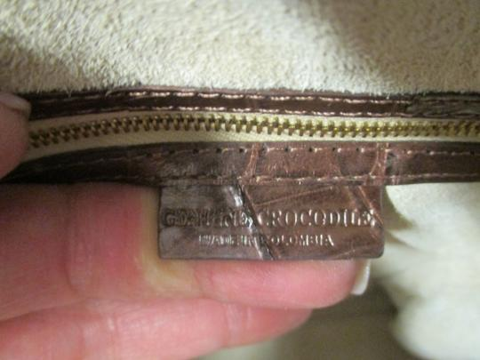 Nancy Gonzalez Crocodile Bronze New Satchel in Copper Image 7