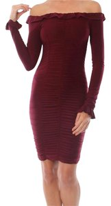Donna Mizani Bodycon Longsleeve Solid Mini Dress