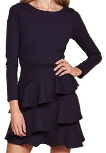 Donna Mizani Ruffles Long Sleeve Scoop Neck Night Out Romance Dress