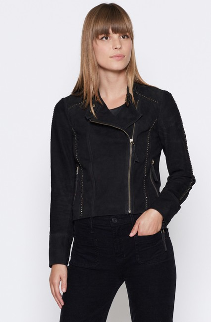 Joie Suede Studded Moto Motorcycle Jacket Image 1