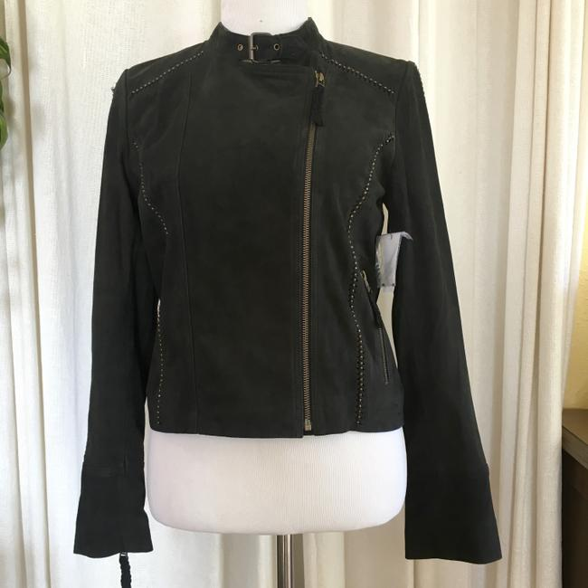 Joie Suede Studded Moto Motorcycle Jacket Image 2