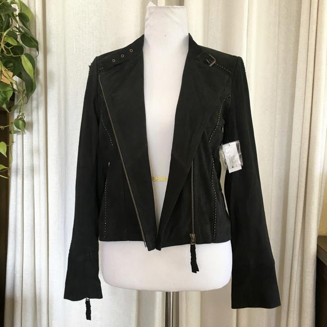 Joie Suede Studded Moto Motorcycle Jacket Image 3