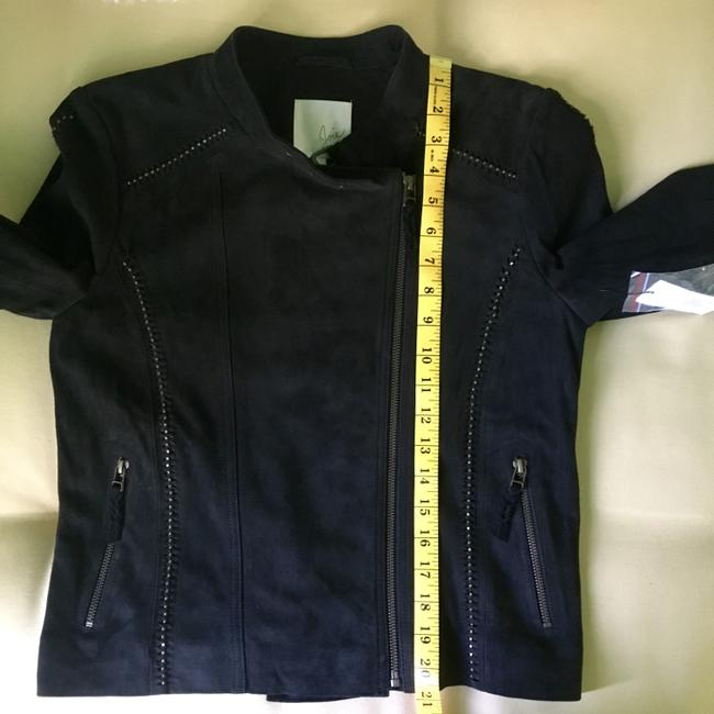 Joie Suede Studded Moto Motorcycle Jacket Image 8