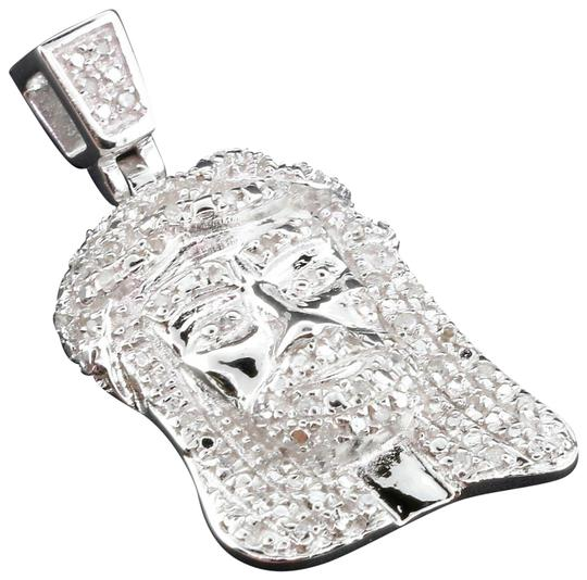 Preload https://img-static.tradesy.com/item/22762202/jewelry-for-less-silver-diamond-jesus-face-pendant-sterling-round-cut-pave-33-ct-charm-0-1-540-540.jpg