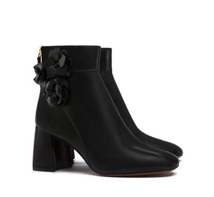 Tory Burch Leather Ankle Black Boots