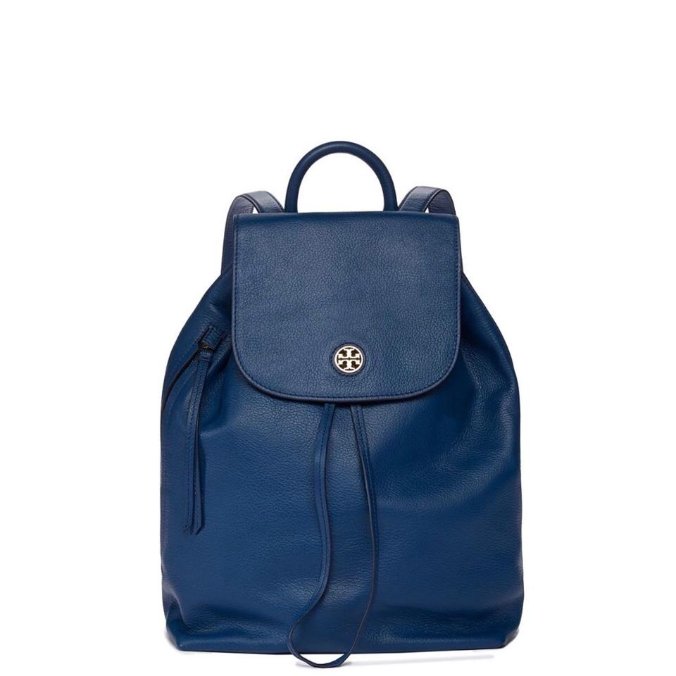 d01d48b9e92a Tory Burch Brody Blue Leather Backpack - Tradesy