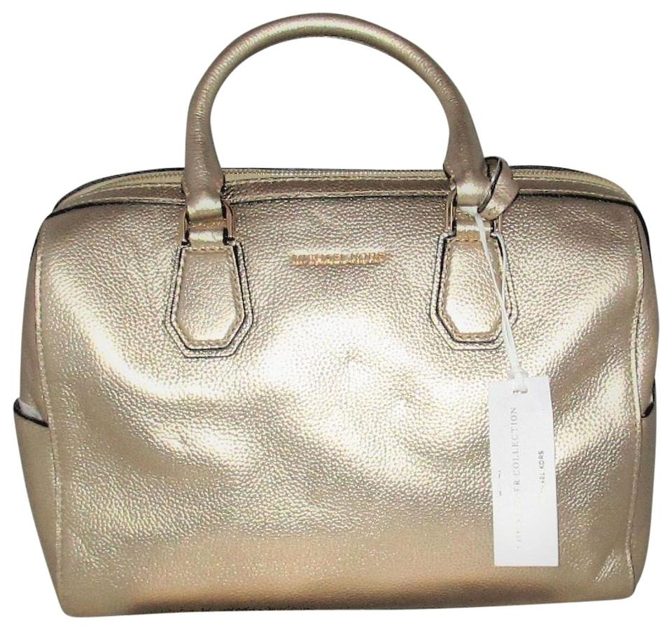 dc5cfa2417ee Michael Kors Studio Mercer Medium Duffel Satchel Tote Pale Gold ...