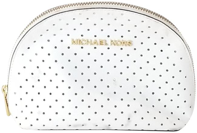 Item - White Perforated Mini Dome Cosmetic Bag