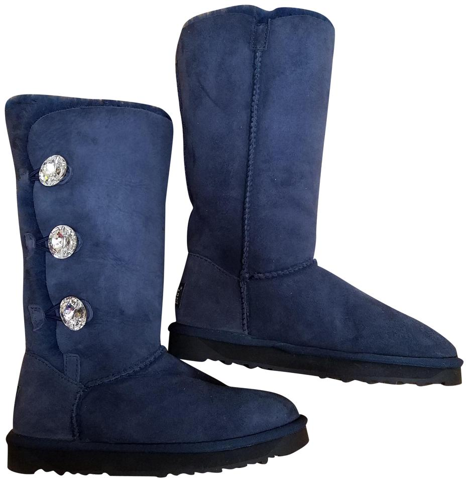 1ef575c6632 UGG Australia Blue Bailey Button Bling Triplet Boots/Booties Size US 5.5  Regular (M, B) 12% off retail